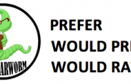 PREFER-WOULD PREFER-WOULD RATHER