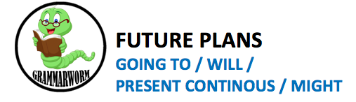 FUTURE PLANS (will / going to / might / present continuous