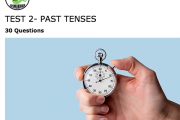 Test 2- Past Tenses